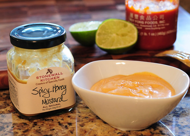 Spicy Honey Mustard Sriracha Aioli
