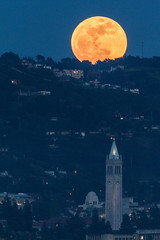 Full Moon over UC Berkeley Sather Tower & I-House