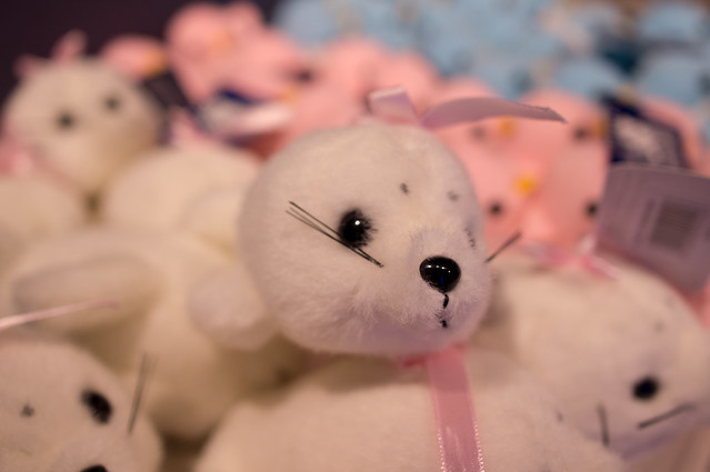 Pink baby seal toys