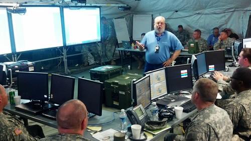 111th EN BDE command post