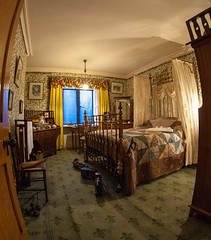 A bedroom in Cragside