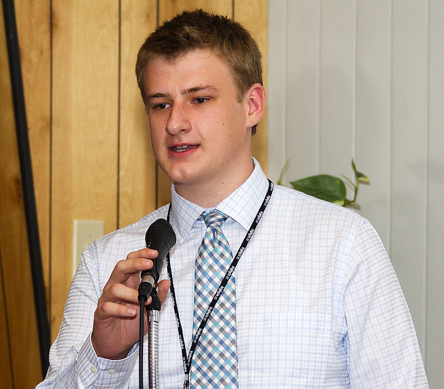 Jordon Medlock of Albuquerque's Manzano High School won the 2012 Lab-sponsored Supercomputing Challenge by creating a computer algorithm that automates the process of counting and analyzing plaques, substances in the blood such as fat and cholesterol found in persons diagnosed with Alzheimer's disease.
