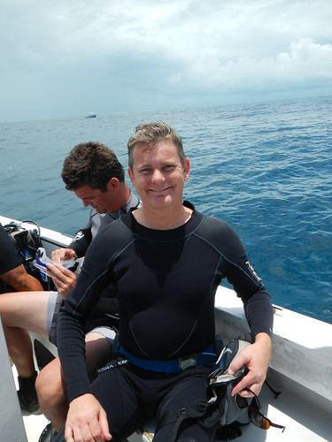 Erik grinning before second dive