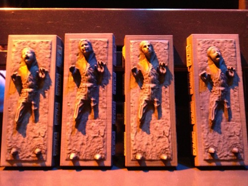 A closer look at a few carbonite figurines. Will be mine... Eventually. #fb