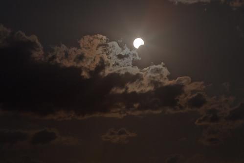 sun clouds eclipse tx crescent astronomy nm partial solareclipse annulareclipse lubbocklunacy