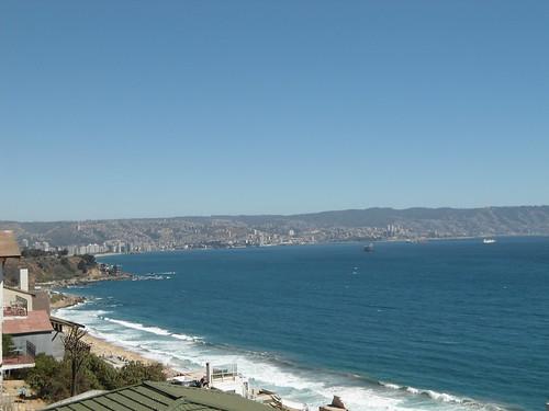 Vista de  Viña y Valparaíso desde Reñaca/View of Viña del Mar and Valparaiso from Reñaca, Chile 2012 - www.meEncantaViajar.com by javierdoren