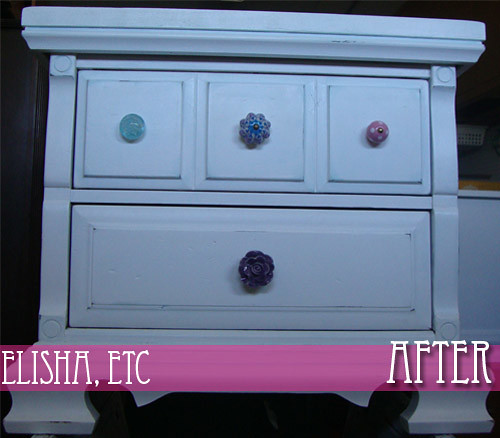 nightstand makeover after 2