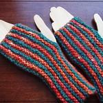 garter stitch mitts