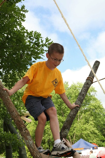 Alex on the Monkey Bridge