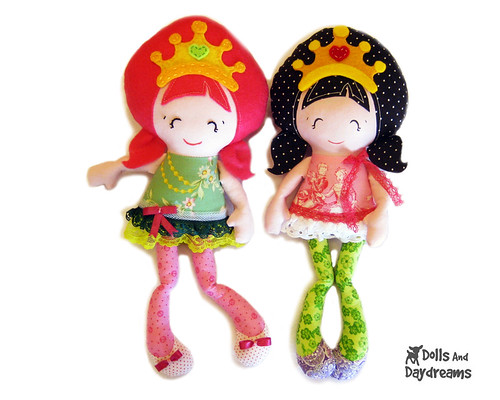 Pocket Princess cloth doll sewing pattern 2a