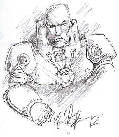 Orange Lantern Lex Luthor (Blackest Night) by Michael Bracco (Comic Book Jones Signing Event)