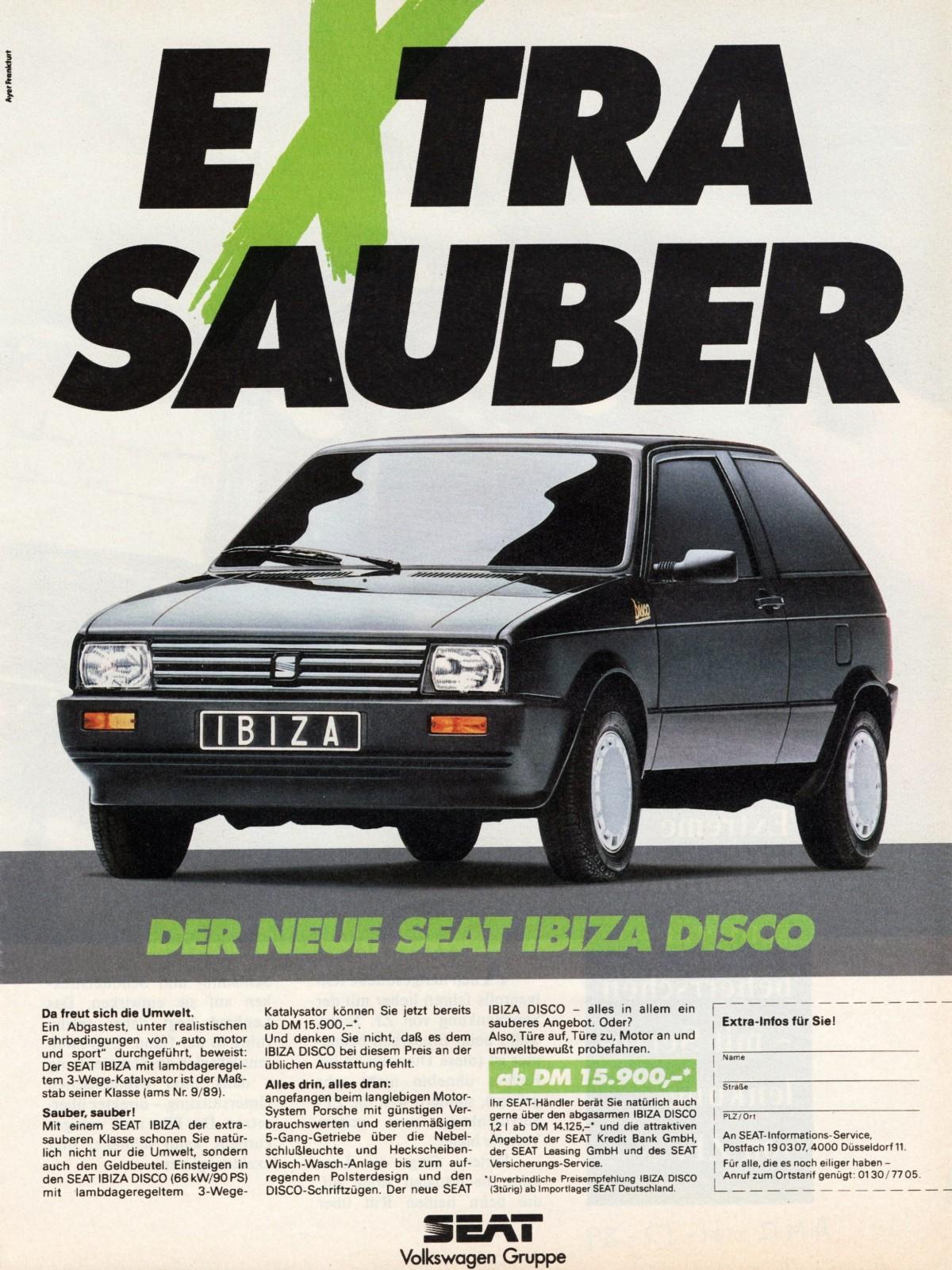 1990 Seat Ibiza Disco Coches Clasicos Anuncios De Coches Y Autos