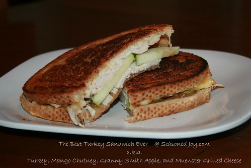 Turkey, Mango Chutney, Apple, Grilled Cheese Sandwich
