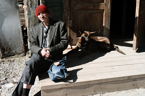 man with a dog by kotvitaliy