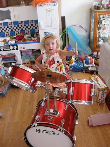 girl on drums