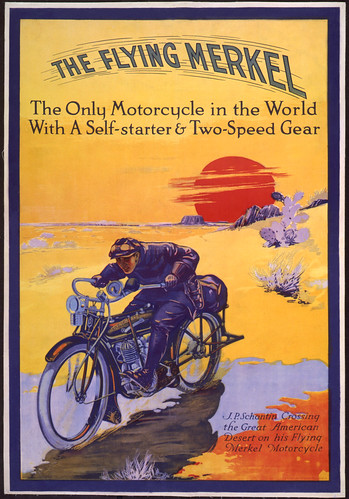 1913 Flying Merkel Desert Sunset by bullittmcqueen