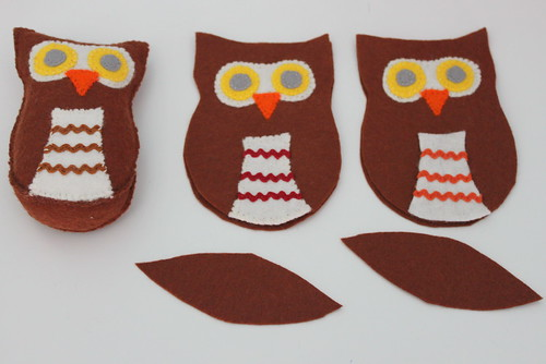 Owl softie progress