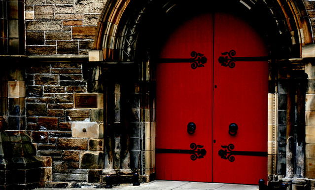Red doors in Edinburgh