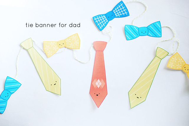Printable Tie Banner