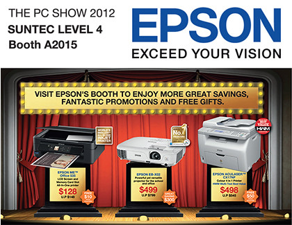 Click on picture to view/download PC Show 2012 brochures from Epson.