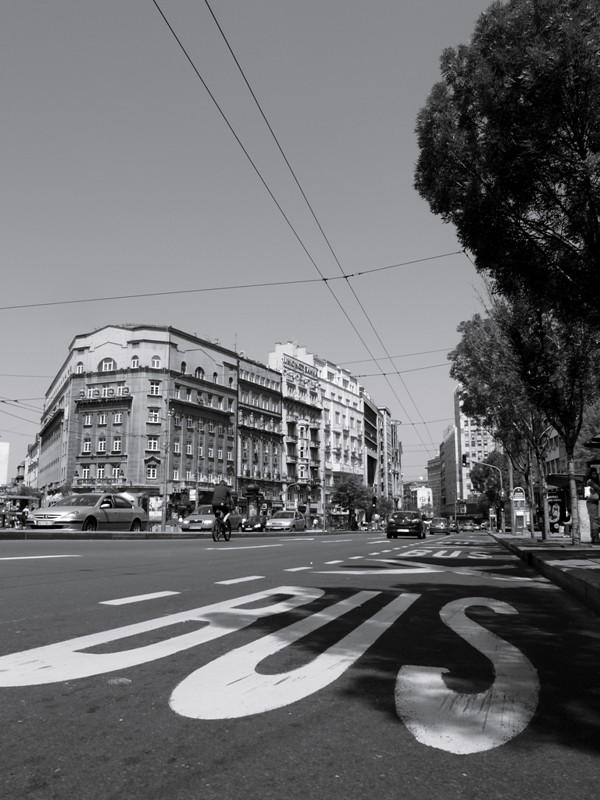 Les voies de bus@Belgrade