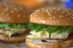 sandwich, meal, hamburger, slider, meat, food, whopper, dish, breakfast sandwich, fast food, cheeseburger,