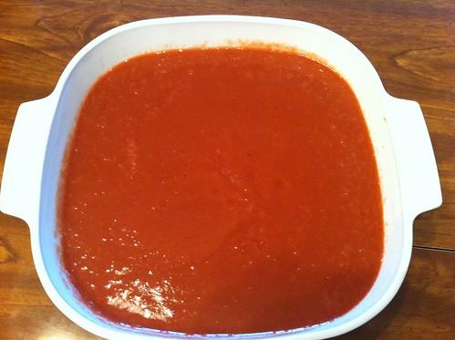 Cooling Rhubarb Sauce