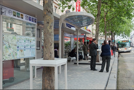 """bus stop of the future,"" Blvd Diderot, Paris (courtesy of Marc Aurel caterina design urbain)"