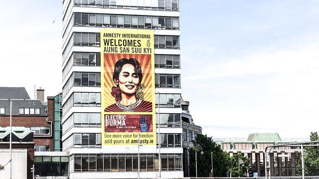 Aung San Suu Kyi - Visits Dublin