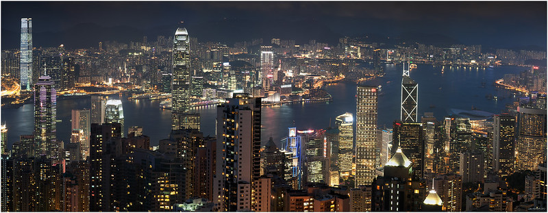 Hong Kong blue hour