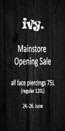 ivy. mainstore opening sale