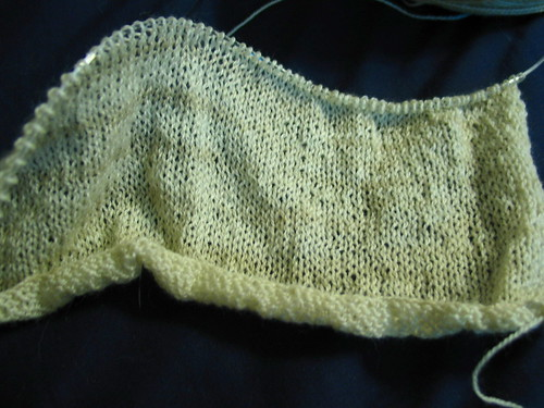 Start of a Whisper Cardigan