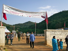 The festival was held on the soccer field