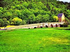 Old stone-#bridge over the #river Werra in Creuzburg near #Eisenach.