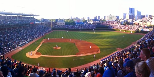 Panoramic view from my seat in section 429 at #WrigleyField for #Mets - #Cubs