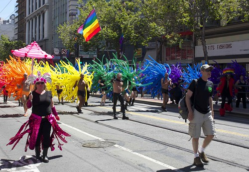 Colorful balloon costumes