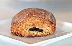Chocolate croissant and its 81 layers