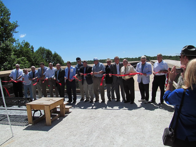 Ribbon Cutting Ceremony at High Bridge.