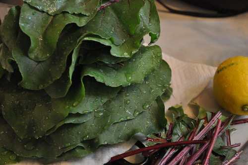 eating local :: beet greens