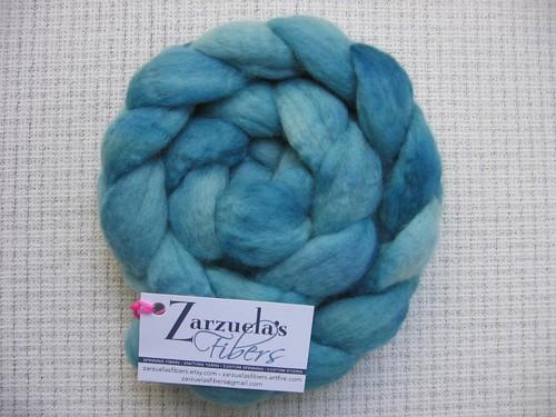 Zarzuela's Fibers BFL, Vishuddha Blue