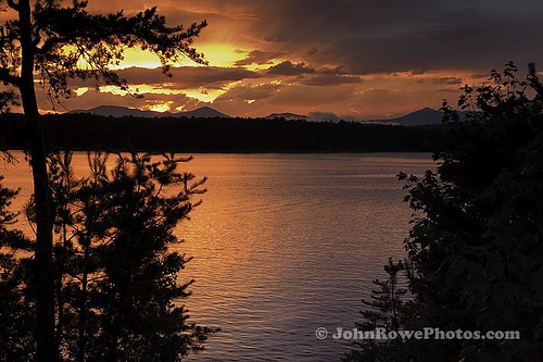 Ossipee Lake Sunset by John I Rowe