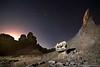 Luna poniente en la Cordillera de los Andes by Leandro Pérez