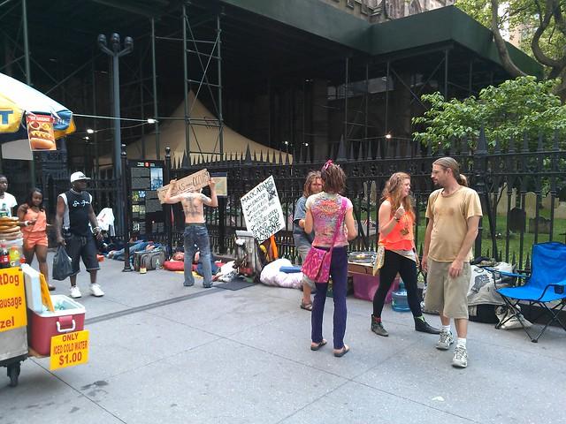 Occupy Wall Street sleep-in at Trinity Church