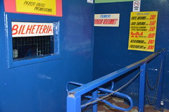 Bilheteria do Cine Caribe, localizado na rua Guaicurus