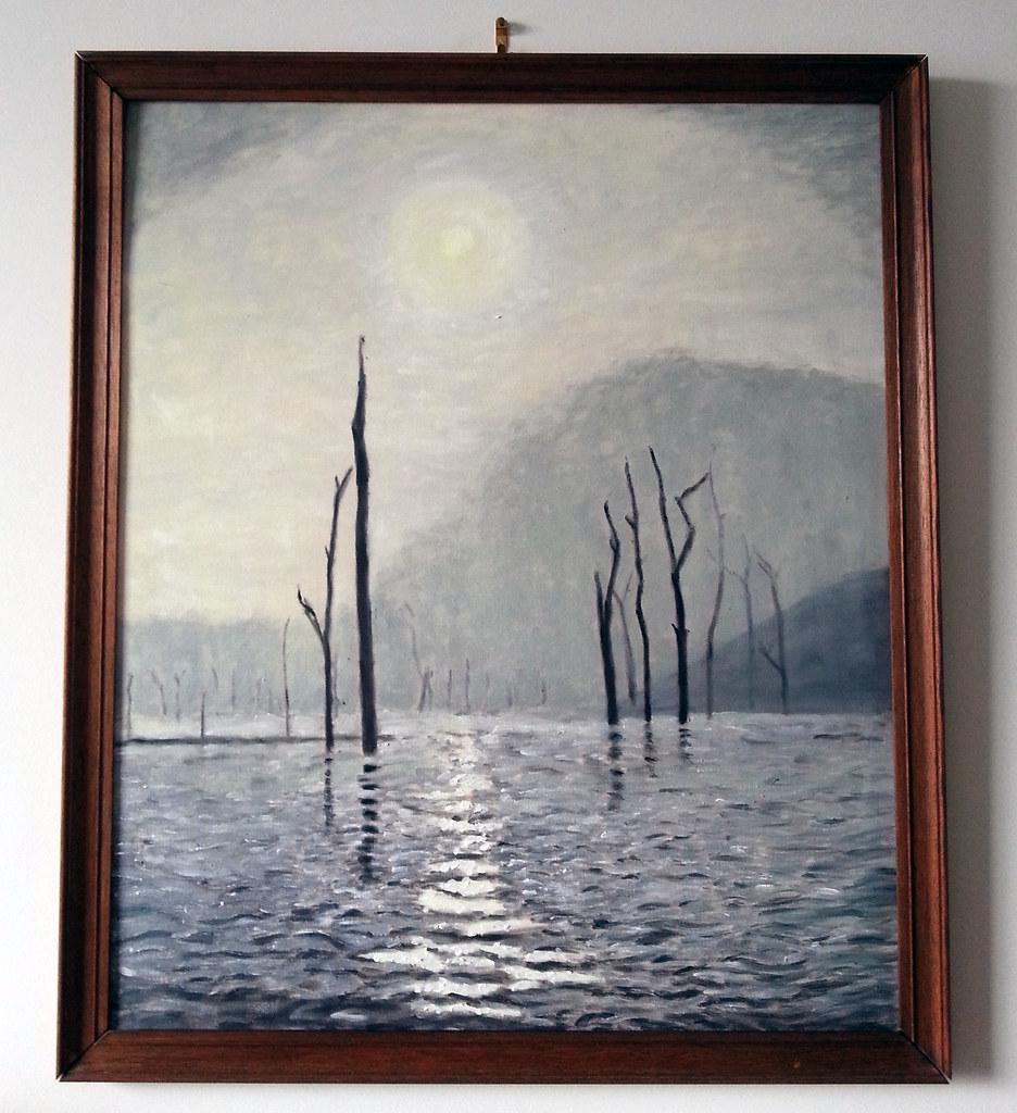 Morning mist at Lake Periyar, Kerala, India