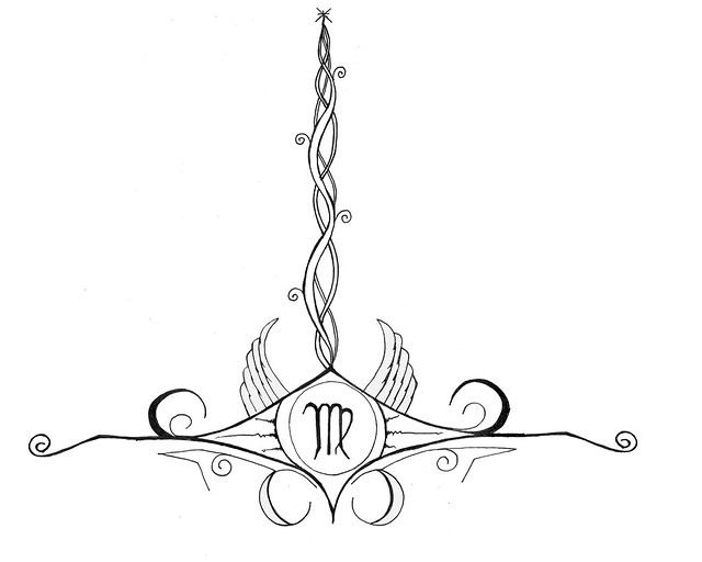 virgo_ai_tatt_design 1st tattoo design - Acid Inks
