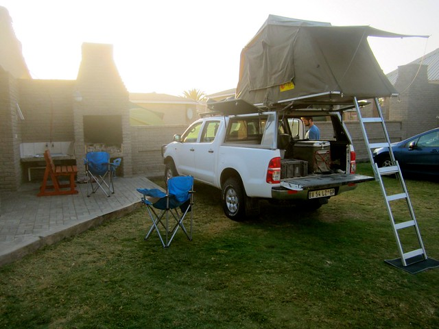 camping at alte burke in swapkomund