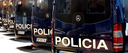Torrevieja police vans ~ repeating patterns dailyshoot