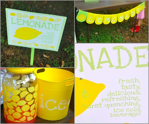 Lemonade stand collage 2