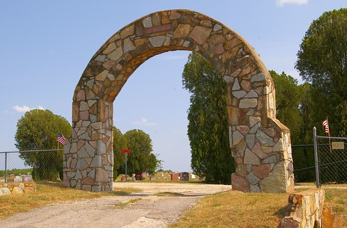 cemeteries usa oklahoma architecture gates arches photographs northamerica wallpapers waymarks ryanoklahoma